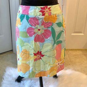 Talbots petites size 8 floral skirt